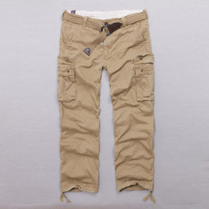Casual Camo Military Multi-pocket Men's Straight Pants