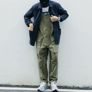 Loose Solid Color Casual Overalls Men's Cargo Pants