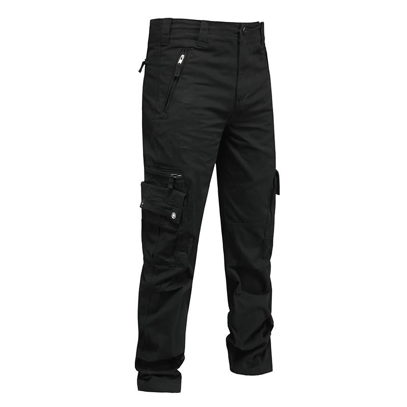 Outdoor Solid Color Zipper Pocket Men's Pants