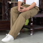 Casual Cotton Washed Loose Men's Pants