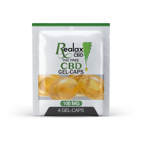 Image of CBD BROAD SPECTRUM GEL-CAPS 100mg  (4 per pouch)