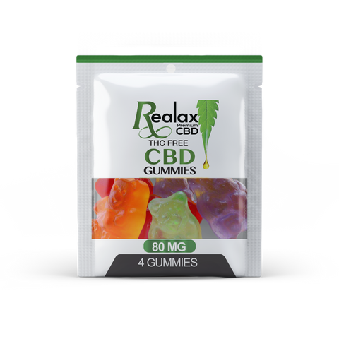 CBD Broad Spectrum Gummy Bears 80mg  (4 per pouch)