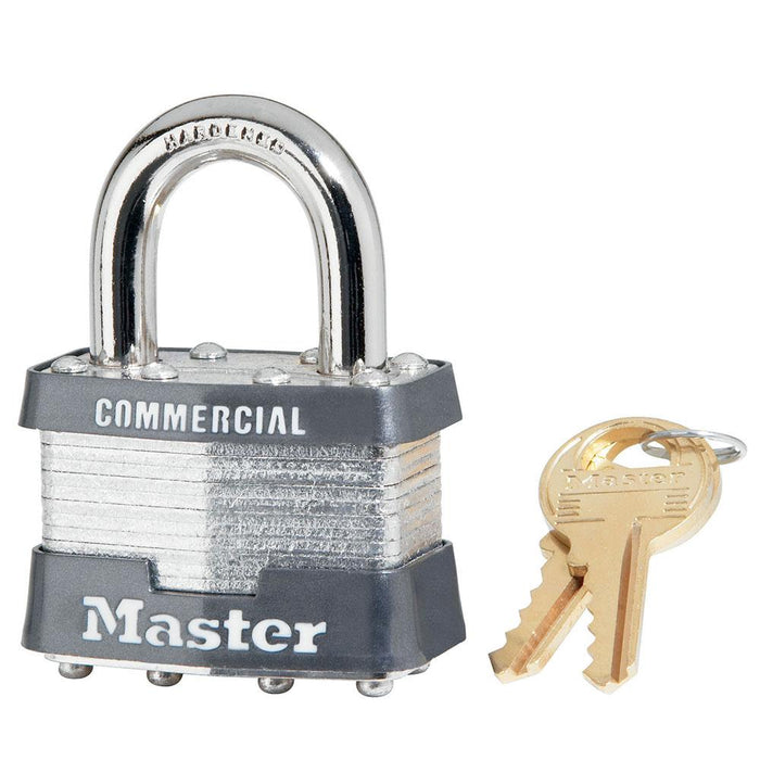 Master Lock 21 Laminated Steel Rekeyable Padlock 1-3/4in (44mm) Wide-Keyed-HodgeProducts.com