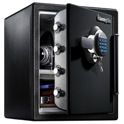 Sentry® Safe SFW123GTC Fire Water Safe, Digital Lock w/ Backlit Keypad/Dual Key, Tray, Bolt Down Kit, Light, 1.2 cu. ft.-HodgeProducts.com