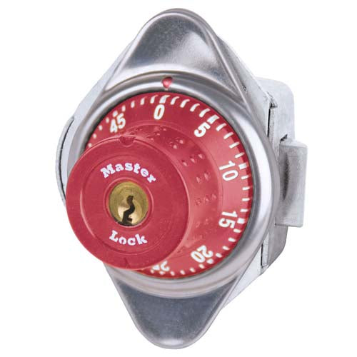 Master Lock 1655MD Built-In Combination Lock with Metal Dial for Horizontal Latch Box Lockers - Hinged on Left-HodgeProducts.com
