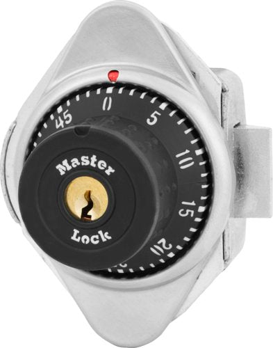 Master Lock 1671MD Built-In Combination Lock with Metal Dial for Lift Handle, Single Point and Box Lockers - Hinged on Left-HodgeProducts.com