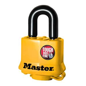 Master Lock 315 Covered Laminated Steel Padlock, Yellow 1-9/16in (40mm) Wide