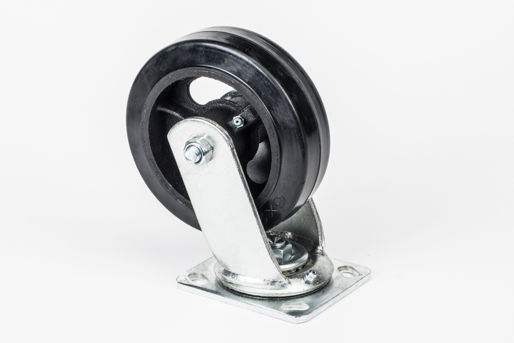 Hodge Products 90062S 6 x 2 Rubber Molded Swivel Caster-HodgeProducts.com