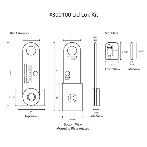 Hodge Products 300100 Lid-Lok® Kit
