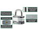 Master Lock 5 Laminated Steel Padlock 2in (51mm) Wide-Keyed-HodgeProducts.com