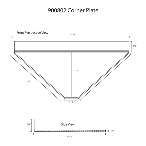 Hodge Products 900802 Corner Plate™-HodgeProducts.com