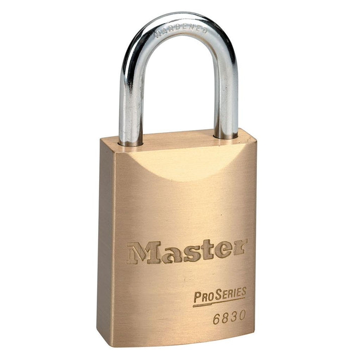 Master Lock 6830 ProSeries® Solid Brass Rekeyable Padlock 1-9/16in (40mm) Wide-Keyed-HodgeProducts.com