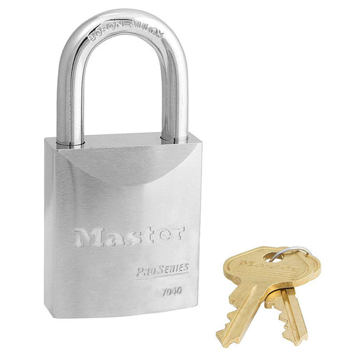 Master Lock 7040 ProSeries® Solid Steel Rekeyable Padlock 1-3/4in (44mm) Wide-Keyed-HodgeProducts.com