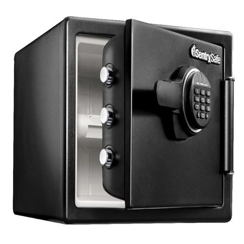Sentry® Safe SFW082ET Fire Water Safe, Digital Lock, Tray, .8 cu. ft.-HodgeProducts.com