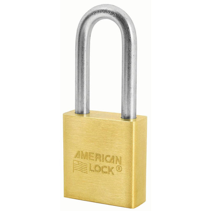 American Lock A21 1-3/4in (44mm) Solid Brass Padlock with 2in (51mm) Shackle-Keyed-HodgeProducts.com