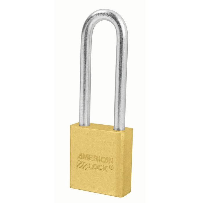 American Lock A22 1-3/4in (44mm) Solid Brass Padlock with 3in (76mm) Shackle-Keyed-HodgeProducts.com