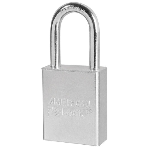 American Lock A6101 1-1/2in (38mm) Solid Steel Rekeyable 6-Padlock with 1-1/2in (38mm) Shackle-Keyed-HodgeProducts.com