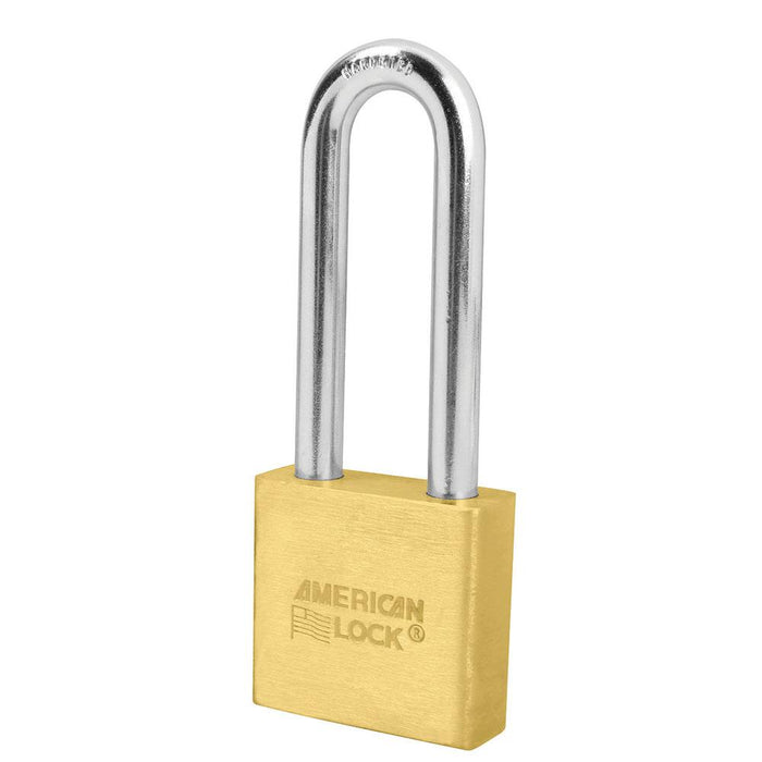 American Lock A6572 2in (51mm) Solid Brass 6-Padlock with 3in (76mm)Shackle-Keyed-HodgeProducts.com