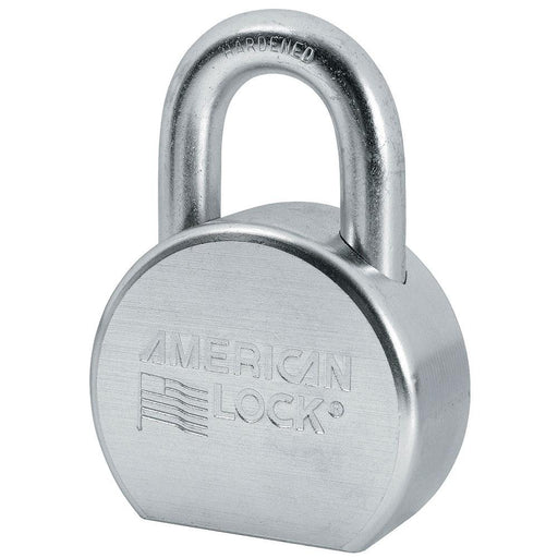 American Lock A702 Solid Steel Rekeyable Padlock, Zinc Plated 2-1/2in (64mm) Wide-Keyed-HodgeProducts.com