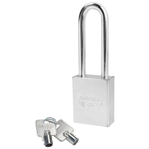 American Lock A7202 1-3/4in (44mm) Solid Steel Rekeyable Tubular Cylinder Padlock with 3in (76mm) Shackle-Keyed-HodgeProducts.com