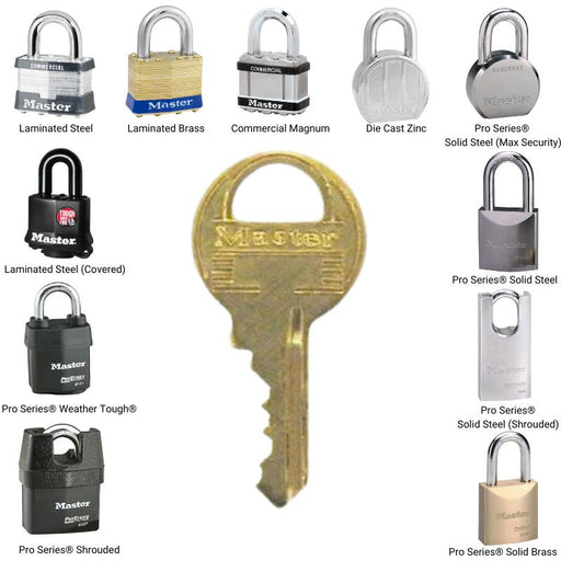 Master Lock K1 Duplicate Cut Key for W1 Cylinders (Lock Model Numbers 1 - 6)-Cut Key-HodgeProducts.com