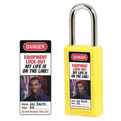 Master Lock 0411-5705 Photo Identification Labels for No. 411 Zenex™ Thermoplastic Safety Padlocks-Other Security Device-HodgeProducts.com