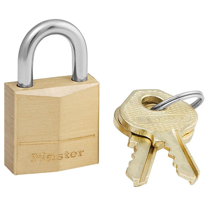 Master Lock 120D Solid Brass Body Padlock 3/4in (19mm) Wide-Keyed-HodgeProducts.com