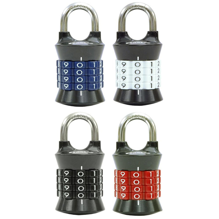 Master Lock 1535D Set Your Own Combination Padlock; Assorted Colors 1-1/2in (38mm) Wide
