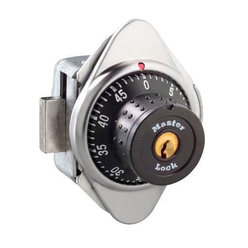 Master Lock 1630MD Built-In Combination Lock with Metal Dial for Lift Handle Lockers - Hinged on Right-HodgeProducts.com