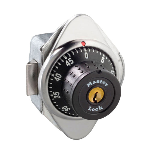 Master Lock 1654MD Built-In Combination Lock with Metal Dial for Horizontal Latch Box Lockers - Hinged on Right-HodgeProducts.com
