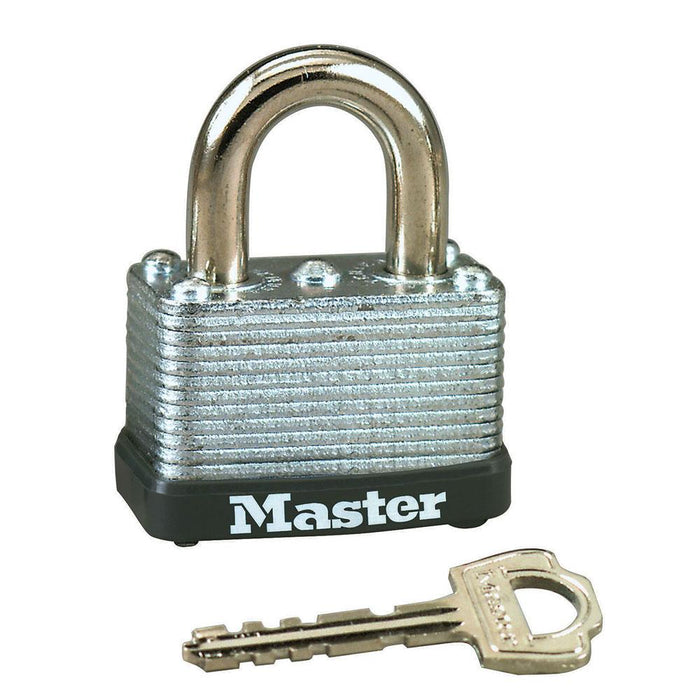 Master Lock 22D Laminated Steel Warded Padlock 1-1/2in (38mm) Wide-Keyed-HodgeProducts.com