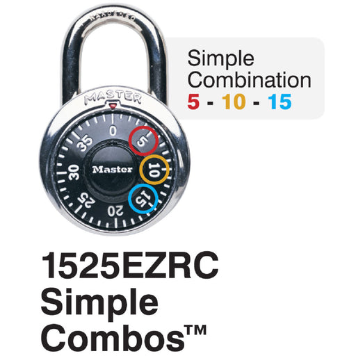 Master Lock 1525EZRC 1-7/8in (48mm) Simple Combos™ ADA Inspired Combination Padlock-HodgeProducts.com