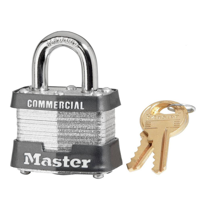 Master Lock 3DCOM Laminated Steel Padlock 1-9/16in (40mm) Wide-Keyed-HodgeProducts.com