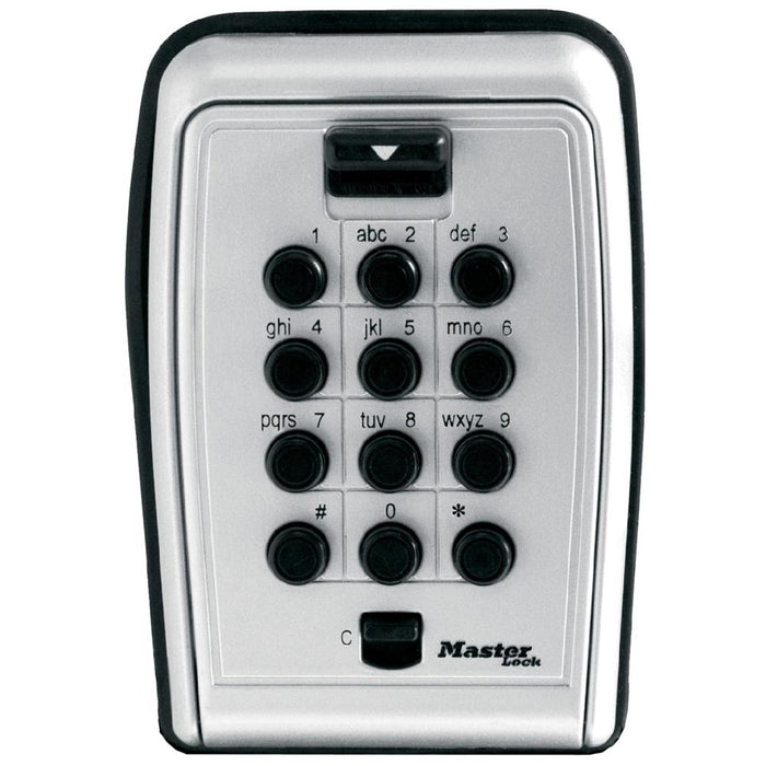 Master Lock 5423D Set Your Own Combination Push Button Wall Mount Lock Box 3-1/8in (79mm) Wide