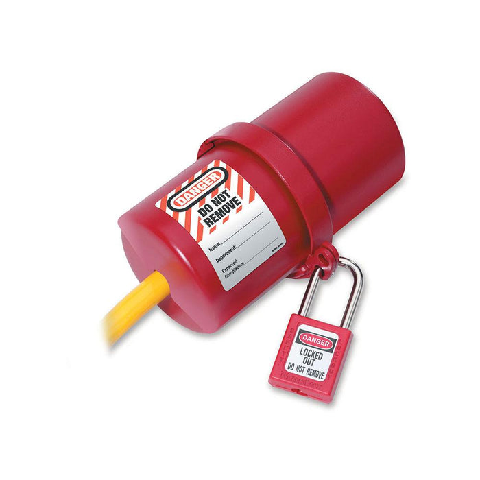 Master Lock 488 Rotating Large Electrical Plug Lockout, 220-550 Volt Plugs