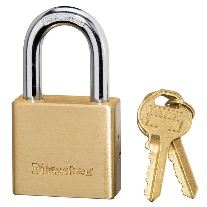 Master Lock 575DPF Solid Brass Body Padlock 1-1/2in (38mm) Wide-Keyed-HodgeProducts.com