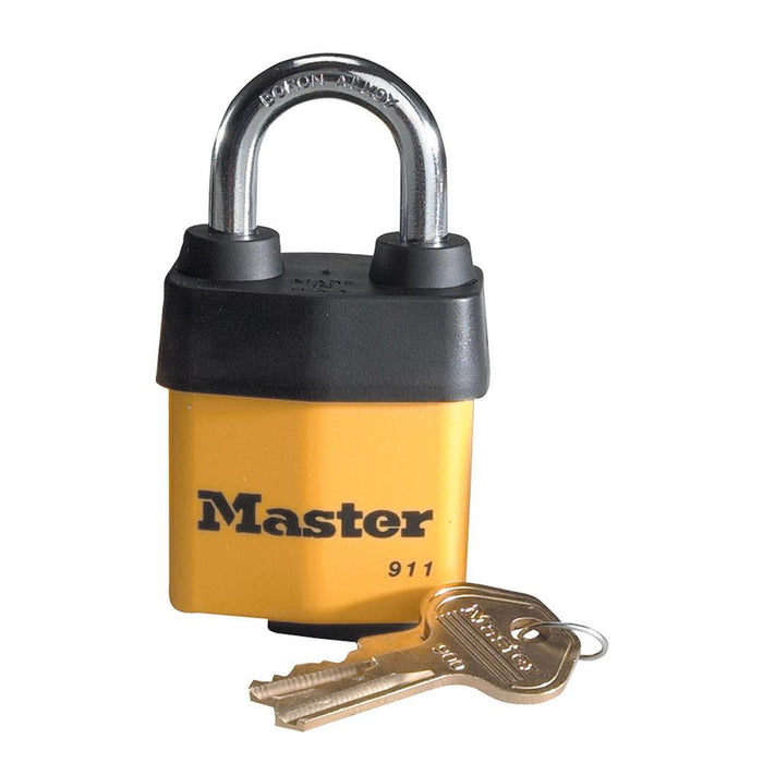Master Lock 911DPF Covered Laminated Steel Padlock 2-1/8in (38mm) Wide