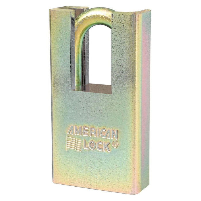 Master Lock A5200GLSHN Government Padlock, with Hidden Shackle and 1-1/8in (28mm) Tall Shackle-Keyed-HodgeProducts.com