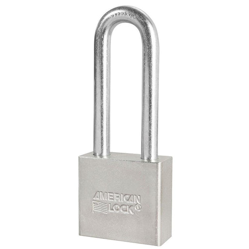 American Lock A52 2in (51mm) Solid Steel Padlock with 3in (76mm) Shackle-Keyed-HodgeProducts.com