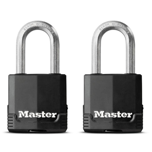Master Lock M115XT 1-7/8in (48mm) Wide Magnum® Covered Laminated Steel Padlock ; 2 Pack-HodgeProducts.com