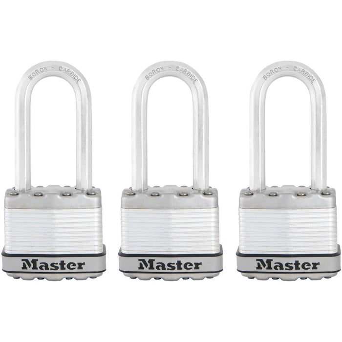 Master Lock M1XTRIHC 1-3/4in (44mm) Wide Magnum® Laminated Steel Padlock ; 3 Pack-HodgeProducts.com