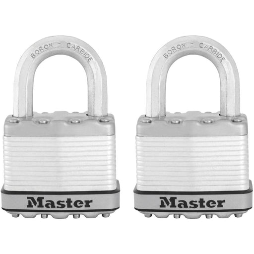 Master Lock M5XT 2in (51mm) Wide Magnum® Laminated Steel Padlock; 2 Pack-HodgeProducts.com
