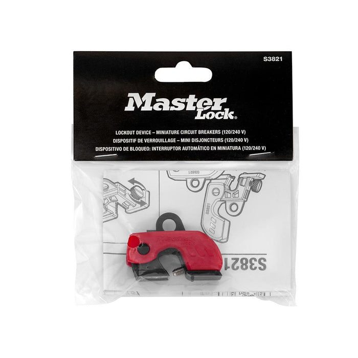 Master Lock S3821 Grip Tight™ Plus Circuit Breaker Lockout Device – Miniature Circuit Breakers (120/240 V)
