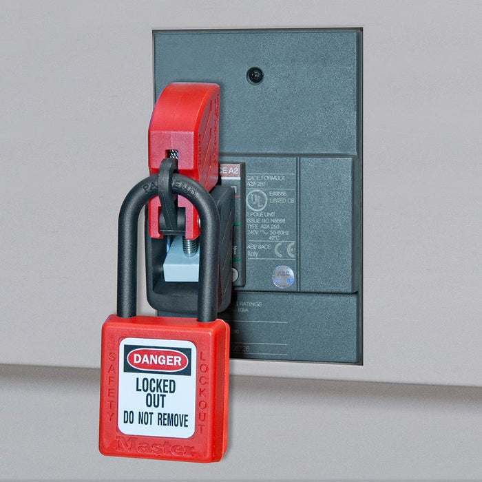 Master Lock S3822 Grip Tight™ Plus Circuit Breaker Lockout Device – Molded Case Circuit Breakers (480/600 V)
