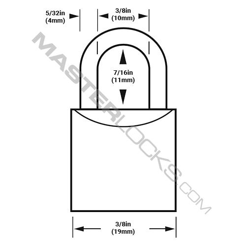 Master Lock 4120 V-Line Brass Padlock 3/4in (19mm) Wide