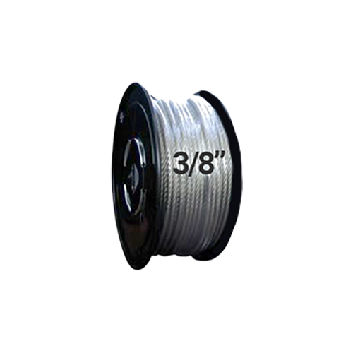 "Hodge Products 25038 - 3/8"" Diameter Aircraft Cable 7 x19 - Reel 0f 500 ft-HodgeProducts.com"