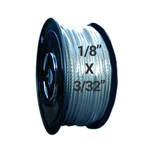"Hodge Products 23005 - 3/32"" ID x 1/8"" OD Vinyl Coated Aircraft Cable 7 x 7-HodgeProducts.com"