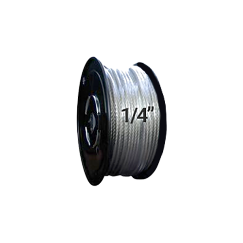 "Hodge Products 25035 - 1/4"" Diameter Aircraft Cable 7 x 19 - Reel of 500 ft-HodgeProducts.com"