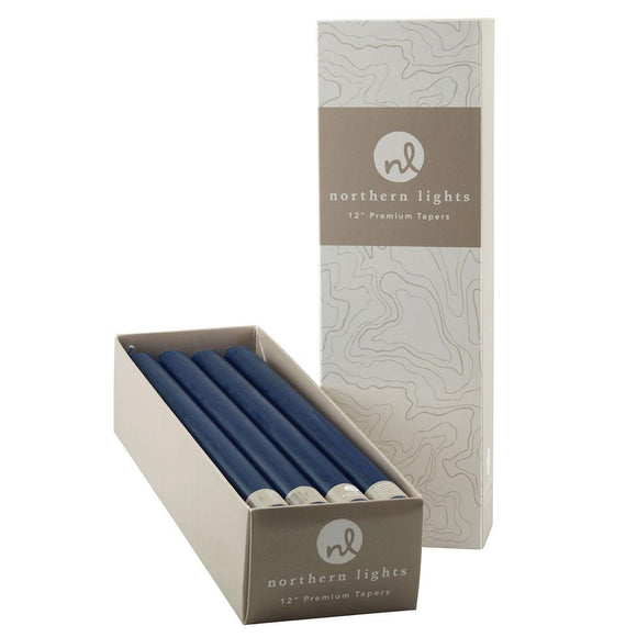 12 Inch Taper Candles Box of 12- Midnight Blue