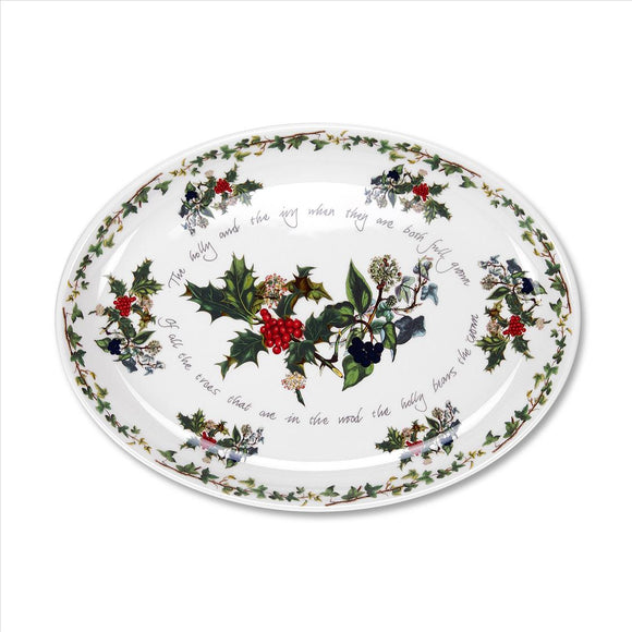 Portmeirion The Holly and The Ivy Turkey Platter